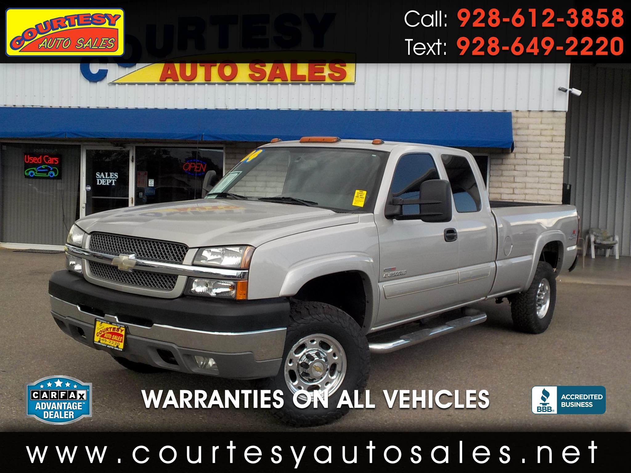 2004 Chevrolet Silverado 2500HD Ext Cab 157.5
