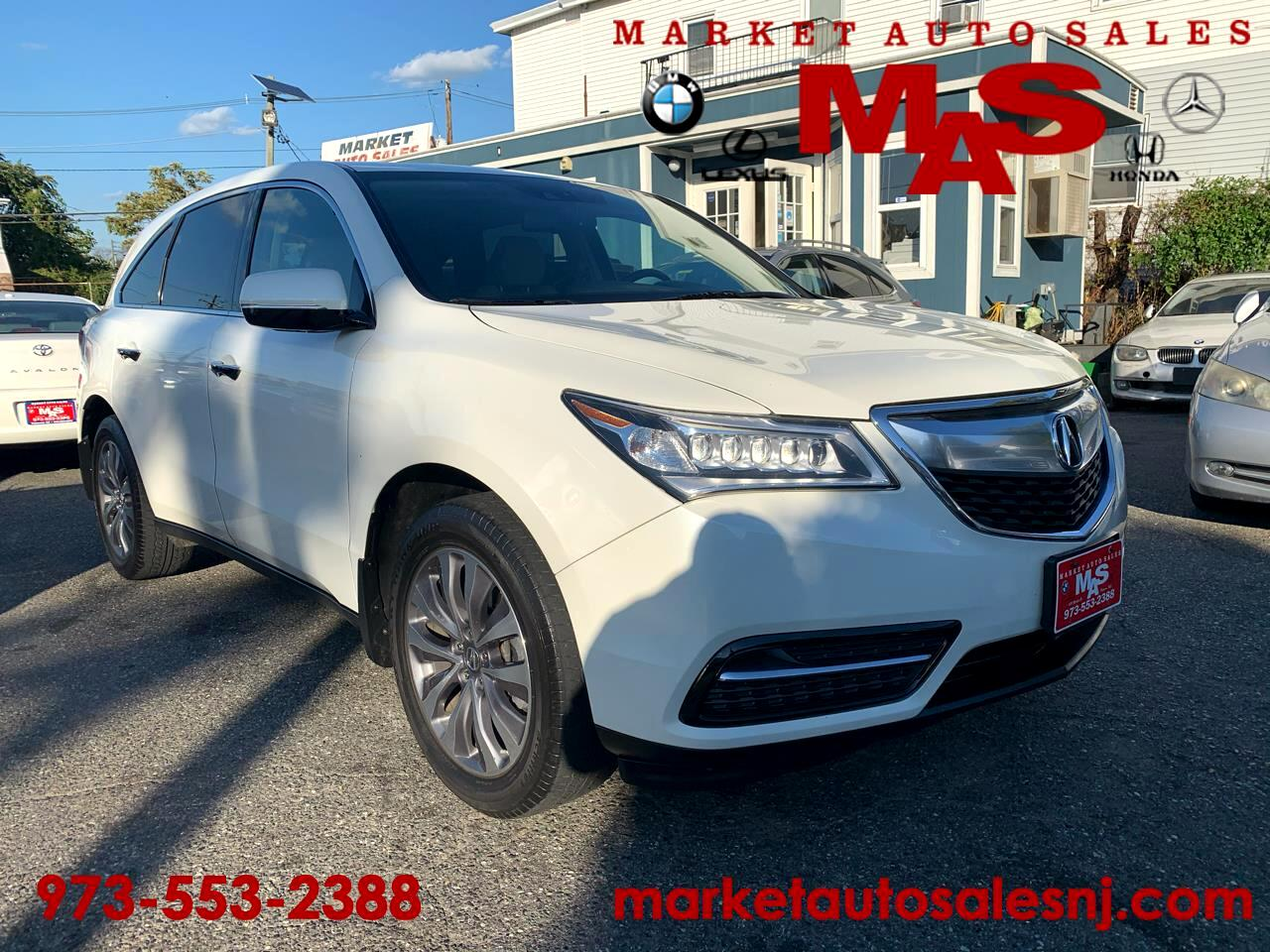 Acura MDX 6-Spd AT w/Tech Package 2015