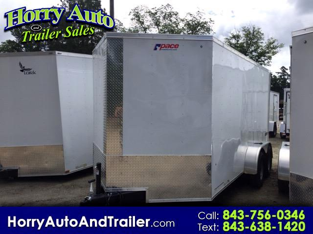 2019 Pace American 7X14 v nose ramp door 6in.xtra height
