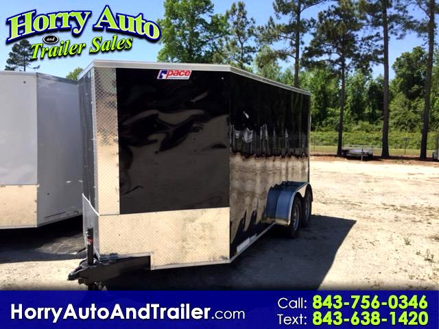 2018 Pace OB7X14TE2 v nose ramp door with 6 inch xtra height