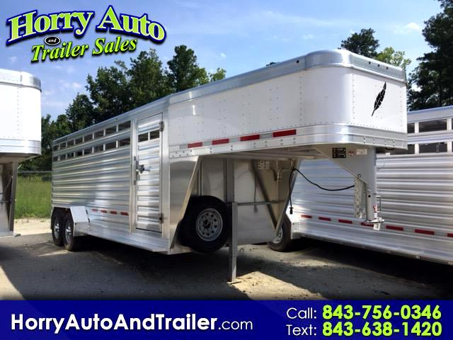 2018 Featherlite Trailers 8117 20' Gooseneck Stock