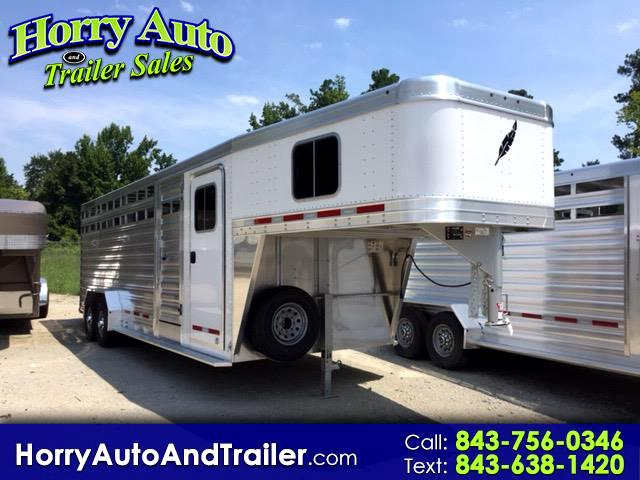 2018 Featherlite Trailers 8413 24 ft stock combo