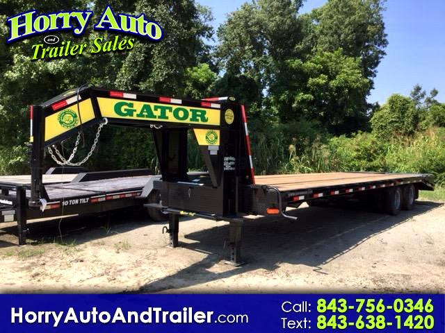 2018 Gatormade Heavy Duty 30 ft goose neck equipment hauler