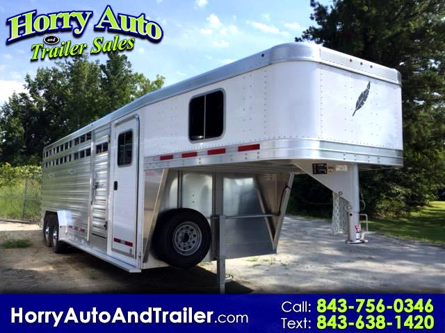 2018 Featherlite Trailers 8413 24 ft stock goose neck