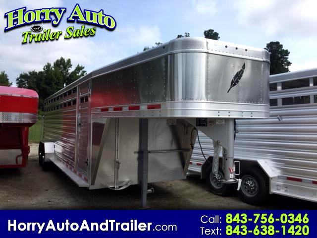 2019 Featherlite Trailers 8117 24 ft gooseneck stock