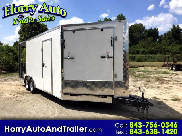 2019 Freedom 8.5X20 TA v nose with ramp door with porch