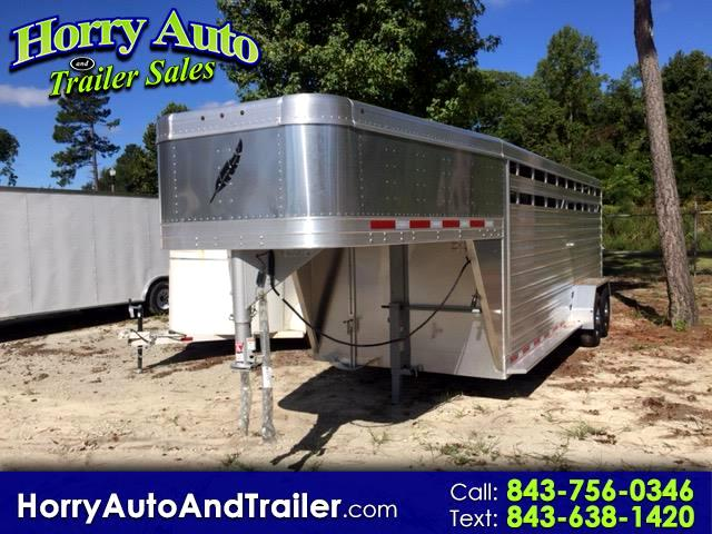 2019 Featherlite Trailers 8117 20 ft goose neck stock