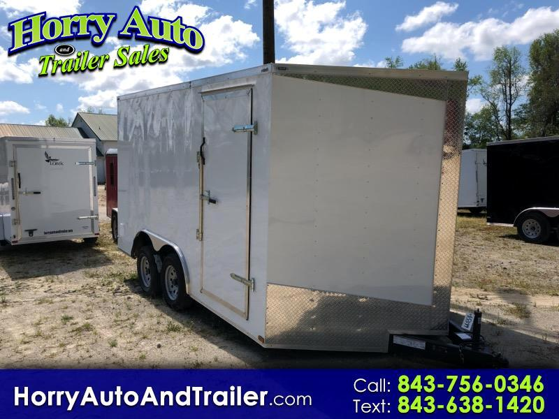 2019 Lark Enclosed 8.5x14 v nose with ramp door
