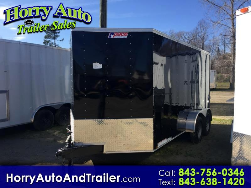 2019 Pace JV7X14TE2 v nose ramp door with 6 inch xtra height