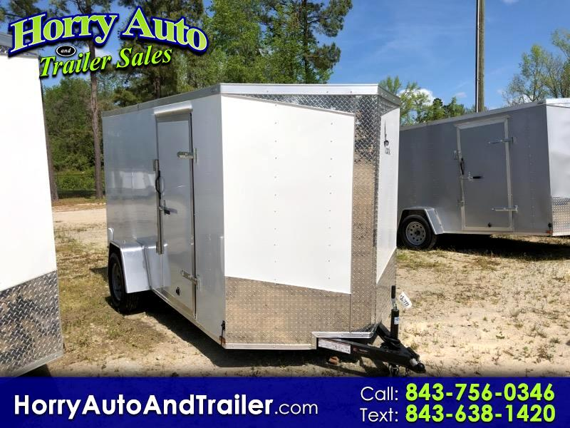 2019 Lark 6X12 SA v nose barn door