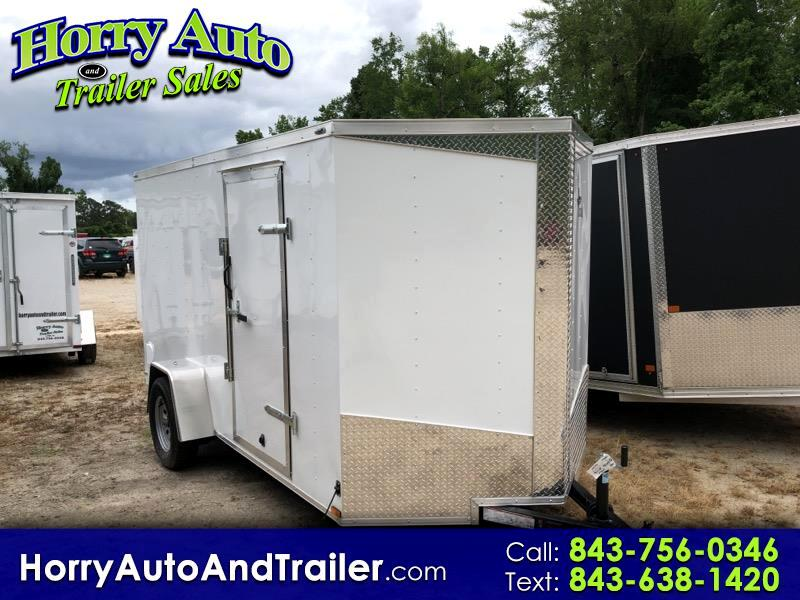 2019 Lark 6X12 SA v nose ramp door