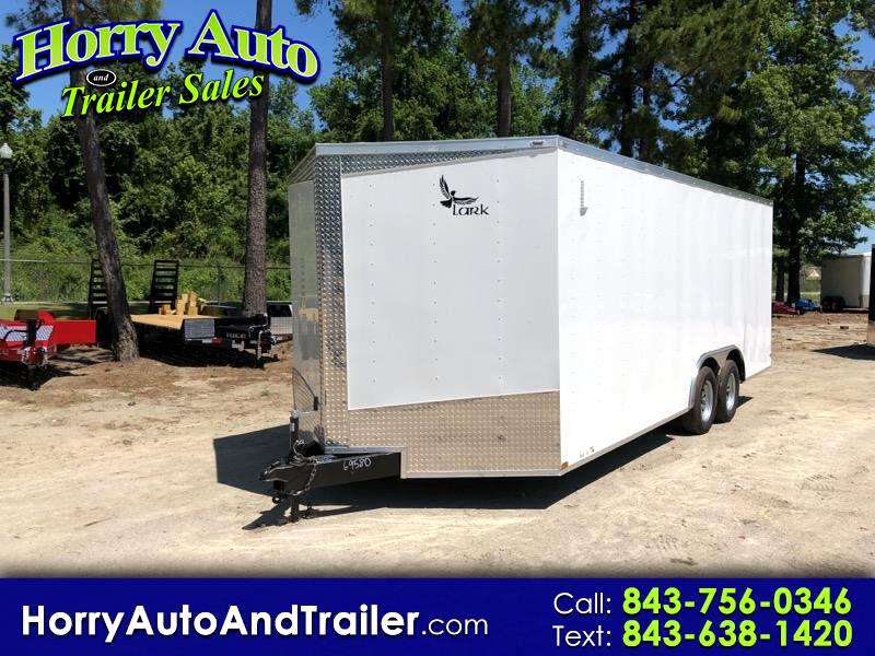 2019 Lark 8.5X20 TA v nose ramp door