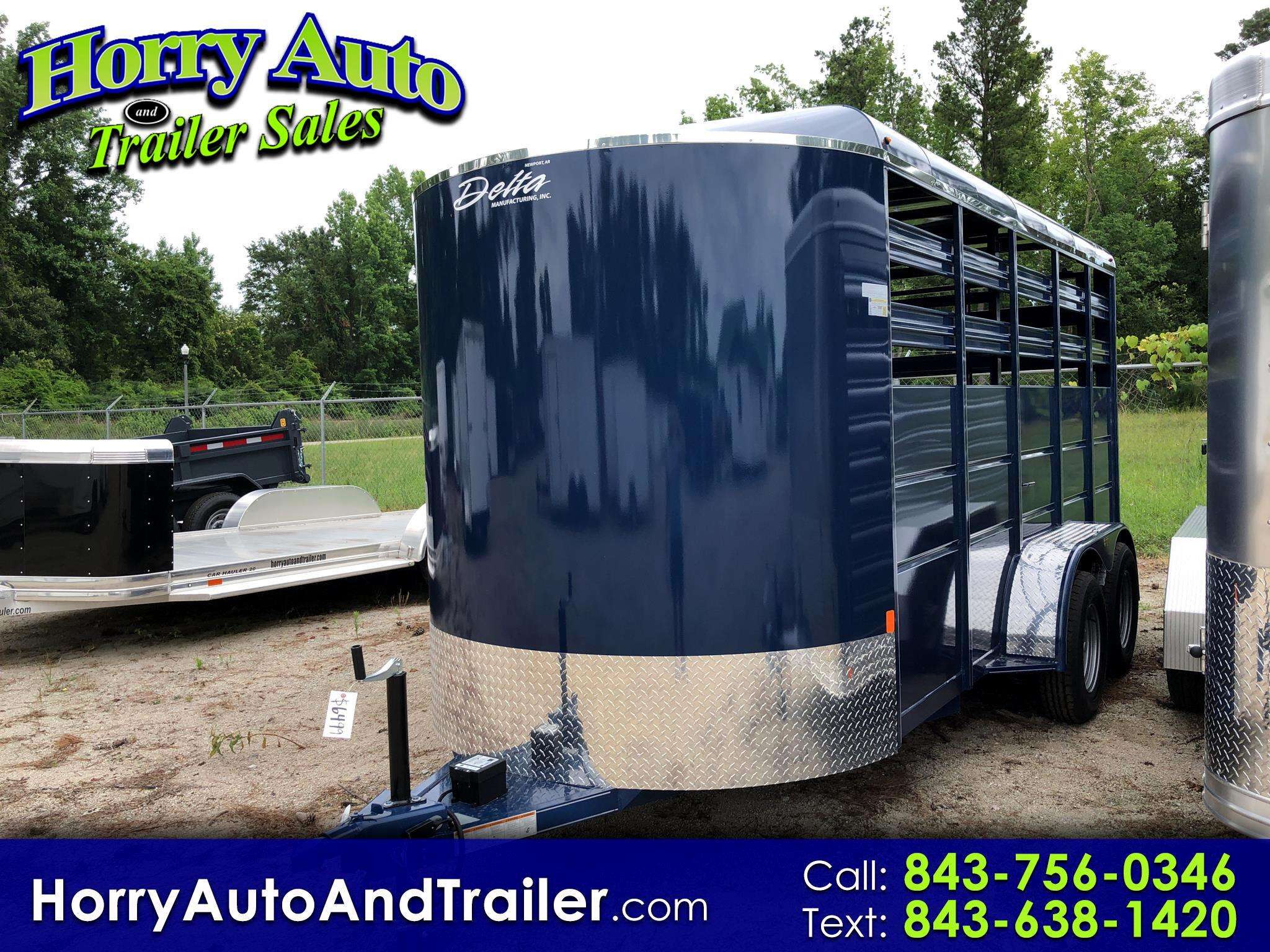 2019 Delta 500 ES bumper pull horse trailer 7 ft high