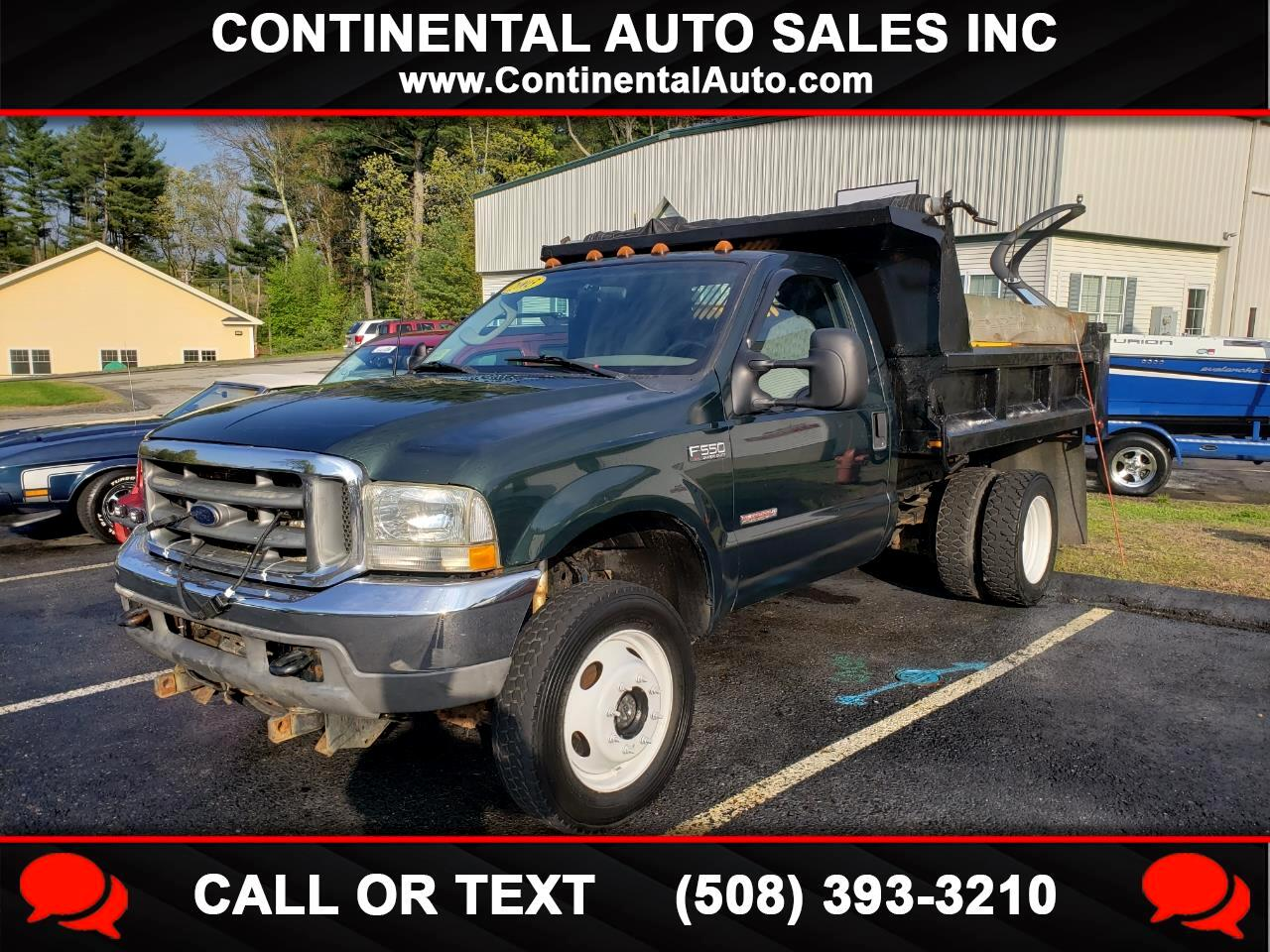 "2003 Ford Super Duty F-550 DRW Reg Cab 165"" WB 84"" CA XL 4WD"