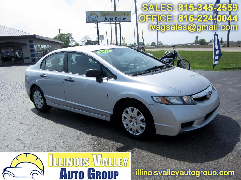 2009 Honda Civic DX-VP Sedan 5-Speed Manual