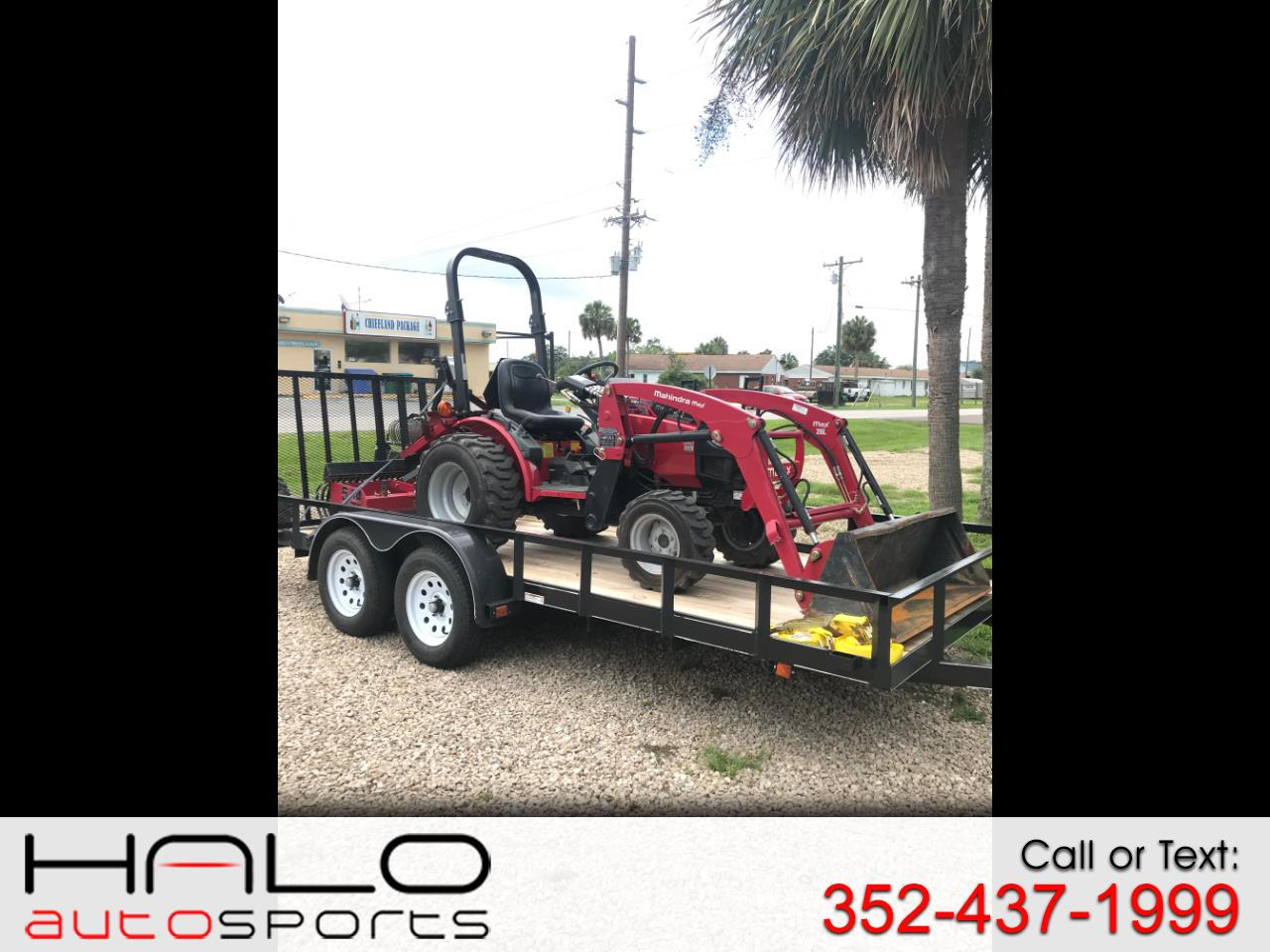 2016 Mahindra Max 26 LOADER, TRAILER AND BOX BLADE PACKAGE