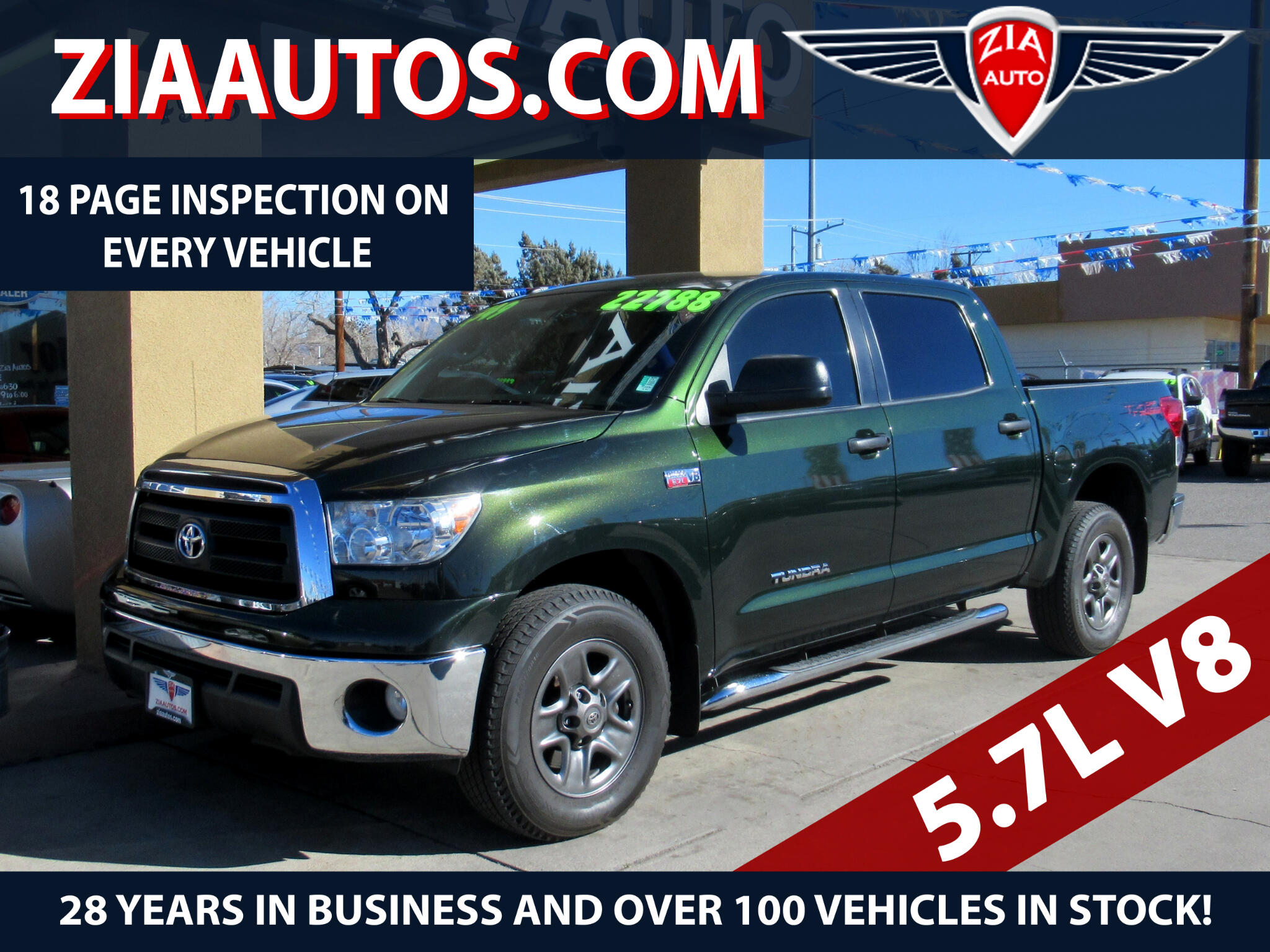 2013 Toyota Tundra 2WD Truck CrewMax 5.7L V8 6-Spd AT (Natl)