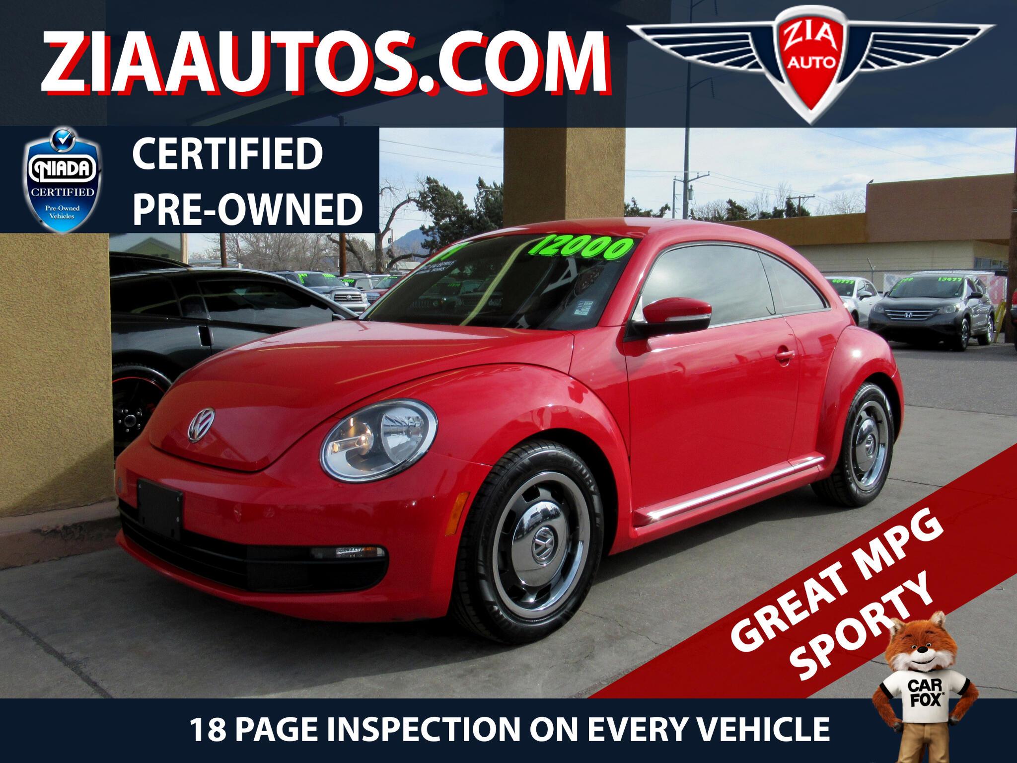2012 Volkswagen Beetle 2dr Cpe Man 2.5L PZEV