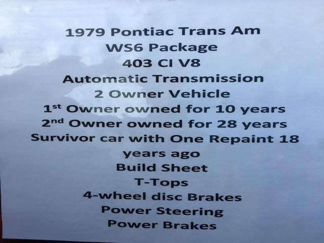 1979 Pontiac Trans Am WS6