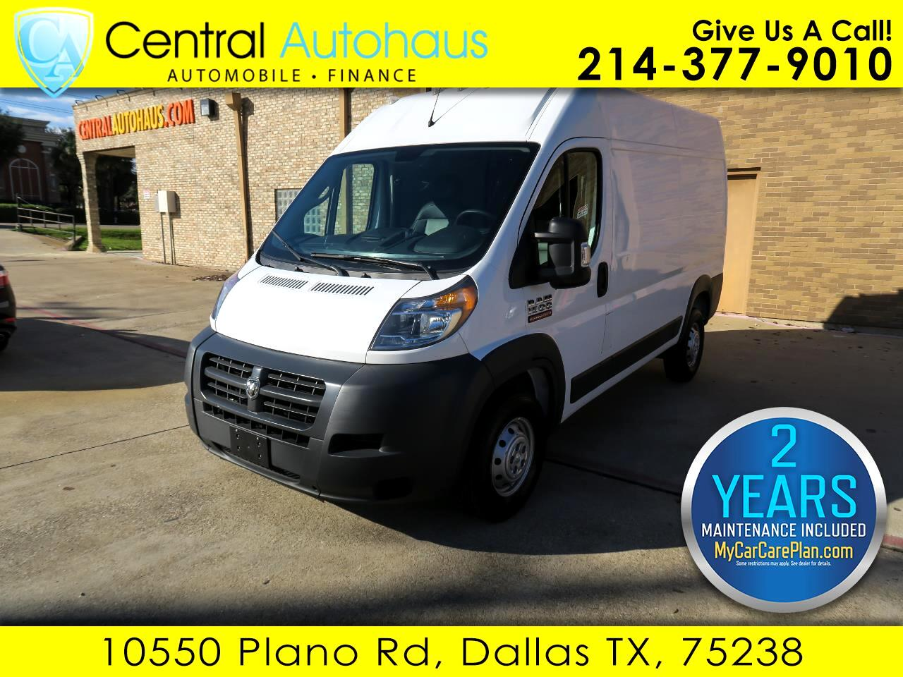 2018 RAM ProMaster Cargo Van 1500 High Roof 136