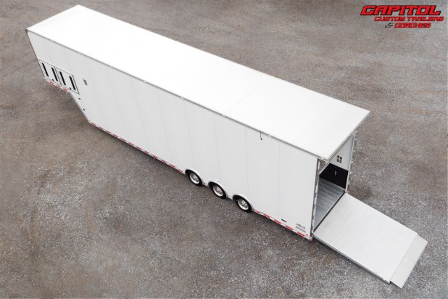 2019 Intech Trailers Gooseneck 44ft All Aluminum Sprint Car Trailer