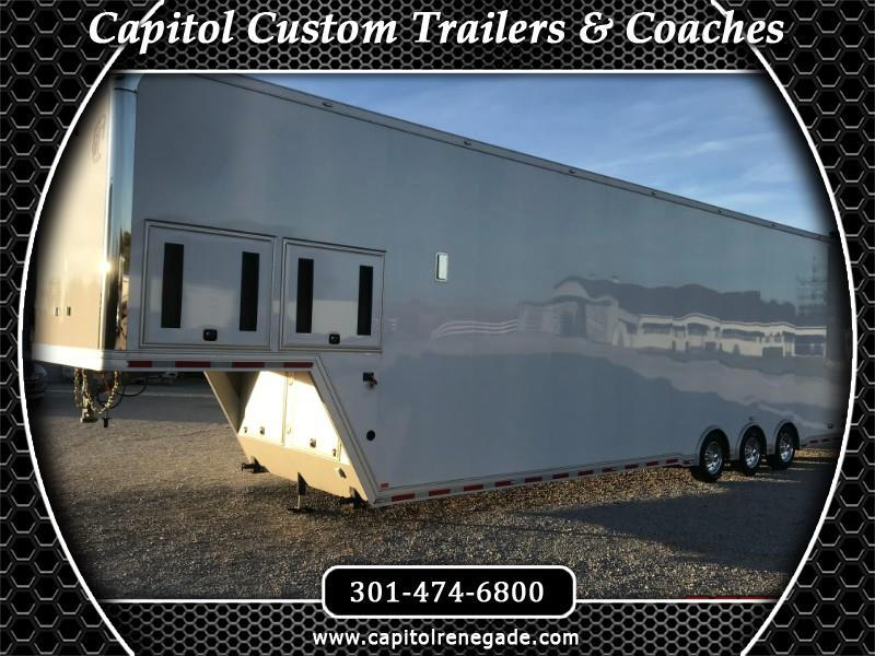 2018 Intech Trailers Gooseneck 44' All Aluminum Sprint Car Trailer