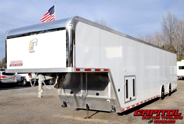 2017 Intech Trailers Gooseneck 40ft Custom Aluminum Trailer SOLD UNIT