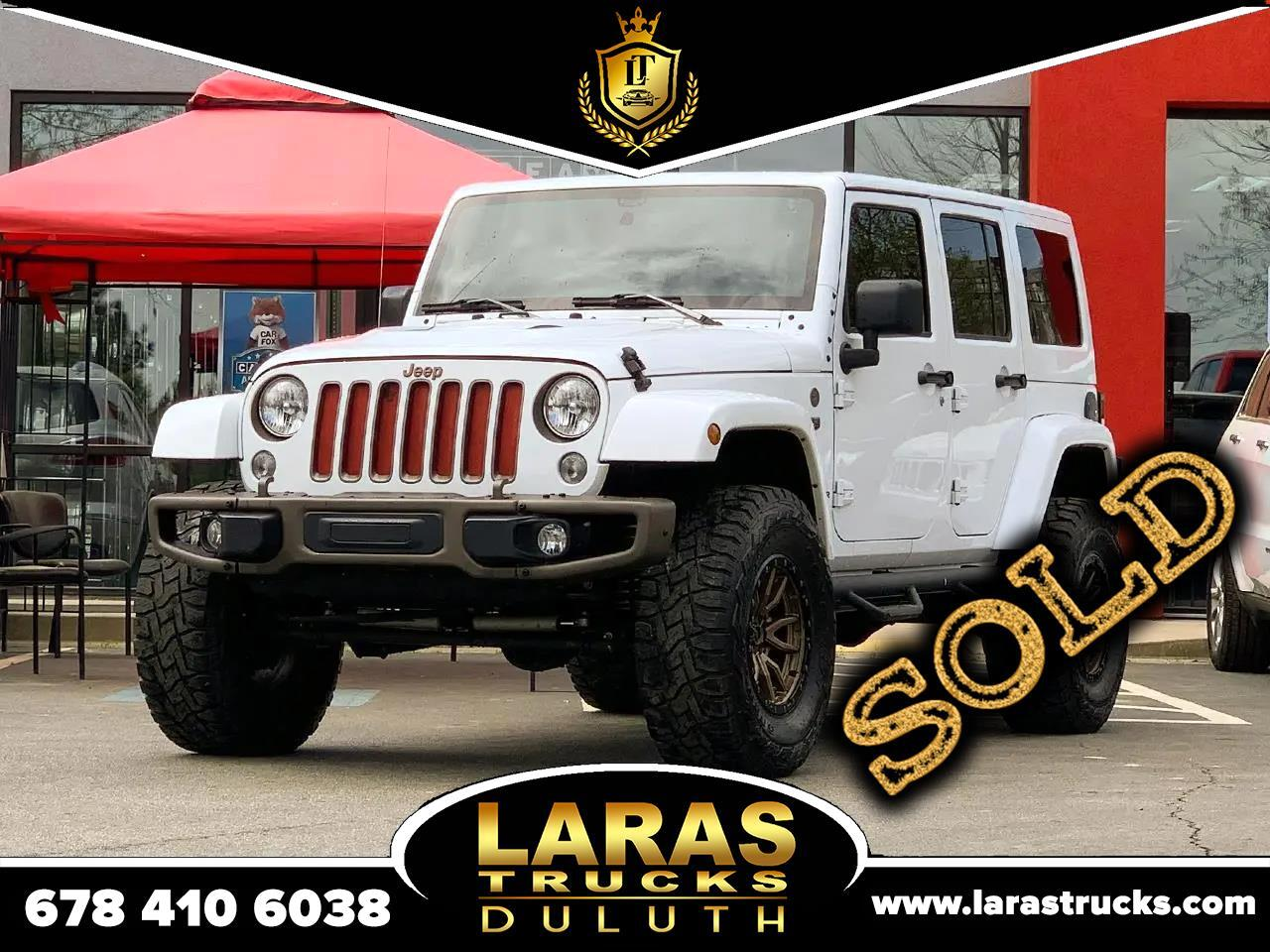 Jeep Wrangler Unlimited 4WD 4dr 75th Anniversary 2016