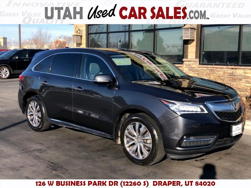 2016 Acura MDX 9-Spd AT w/ Tech, Entertainment & AcuraWatch Plus