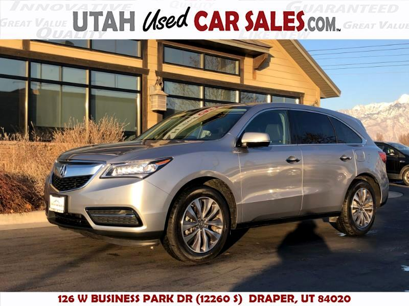 2016 Acura MDX 9-Spd AT w/Tech and Entertainment Package