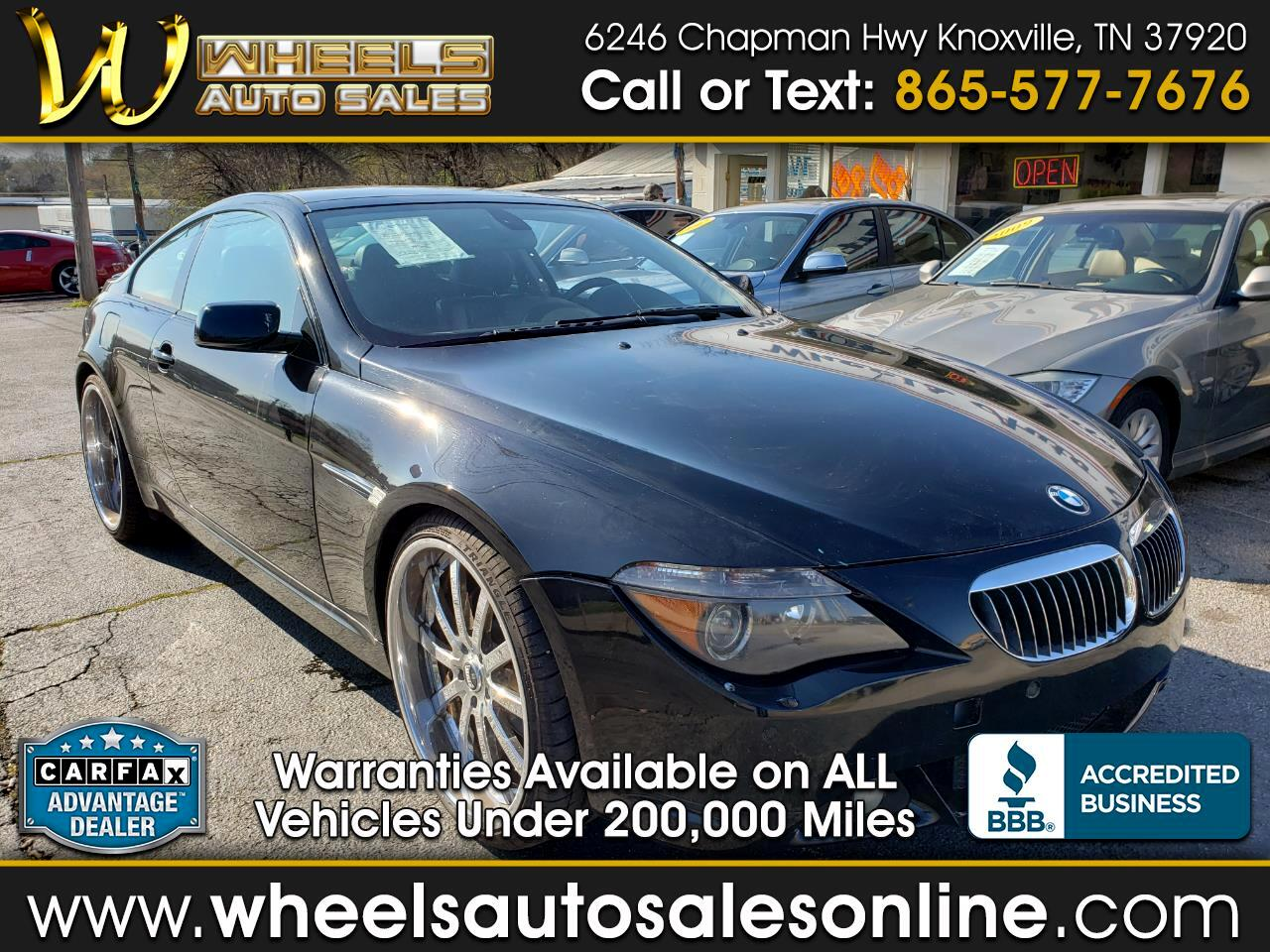 2007 BMW 6 Series 2dr Cpe 650i