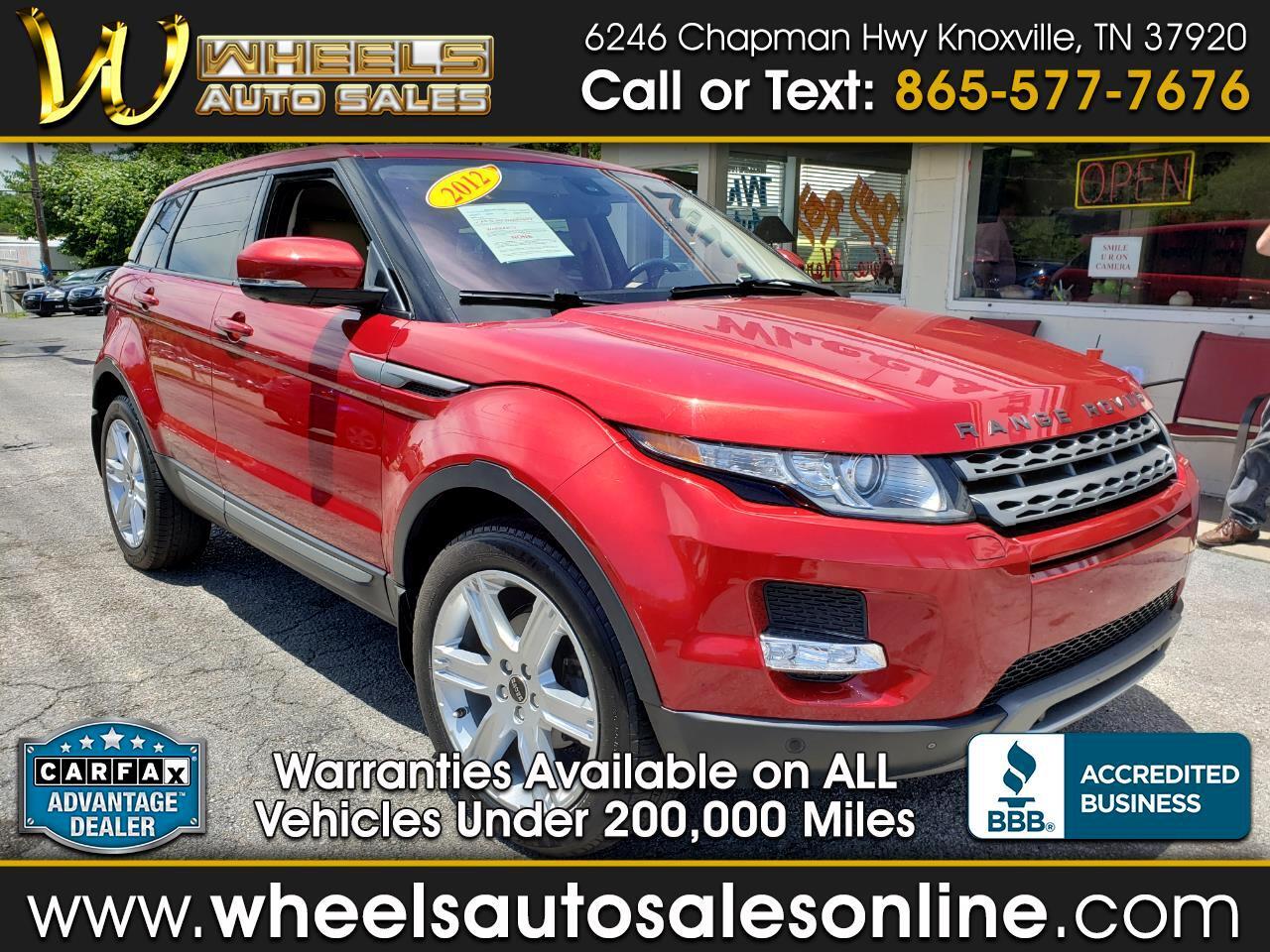 Land Rover Range Rover Evoque 5dr HB Pure Premium 2012