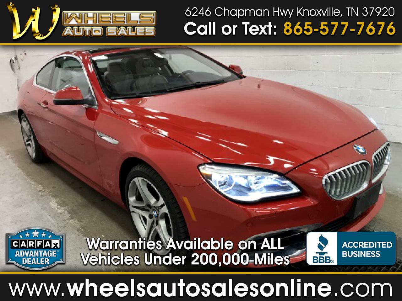 2016 BMW 6 Series 2dr Cpe 650i xDrive AWD