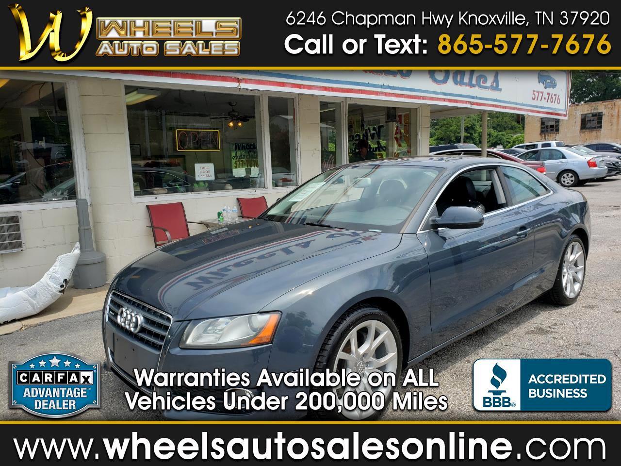 2011 Audi A5 2dr Cpe Man quattro 2.0T Premium