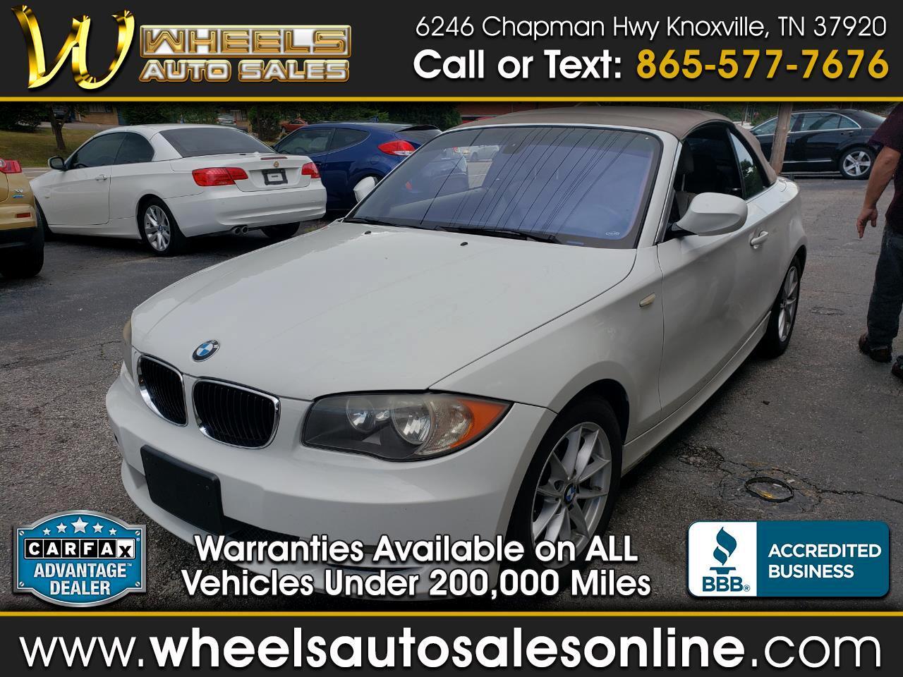 2011 BMW 1 Series 2dr Conv 128i