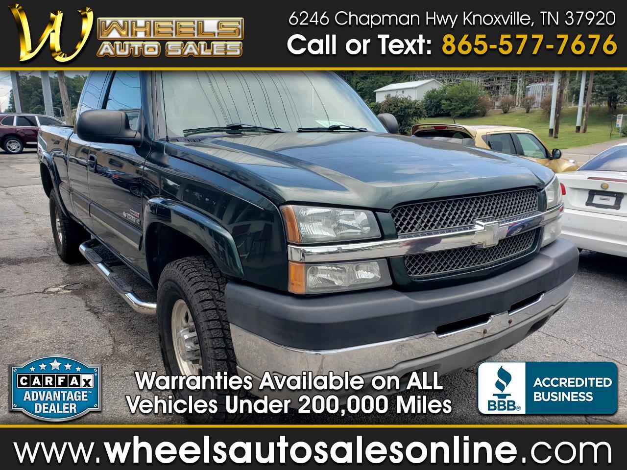 "2003 Chevrolet Silverado 2500HD Ext Cab 143.5"" WB 4WD LS"