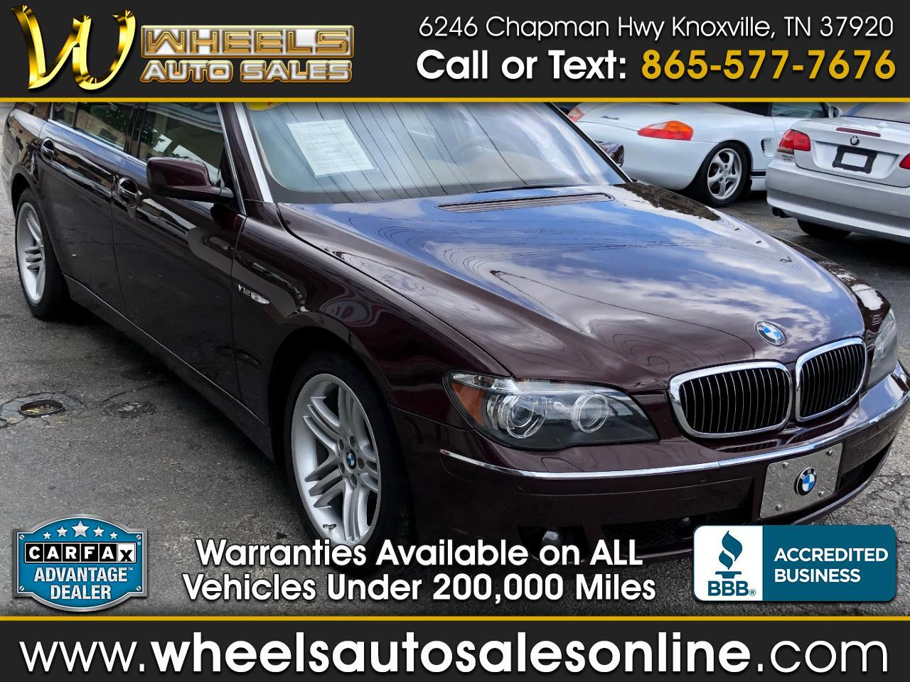 2008 BMW 7 Series 4dr Sdn 760Li