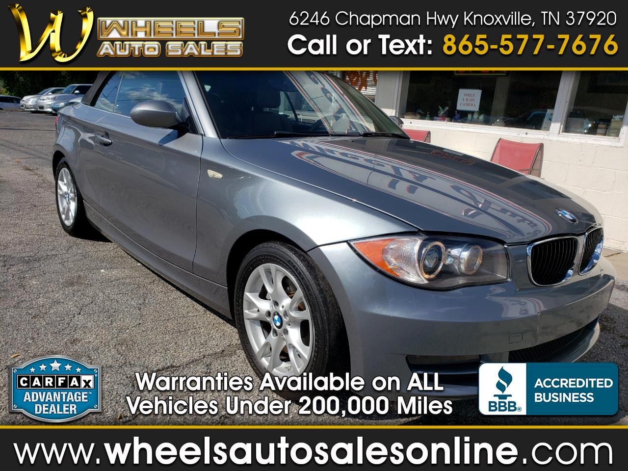 2009 BMW 1 Series 2dr Conv 128i