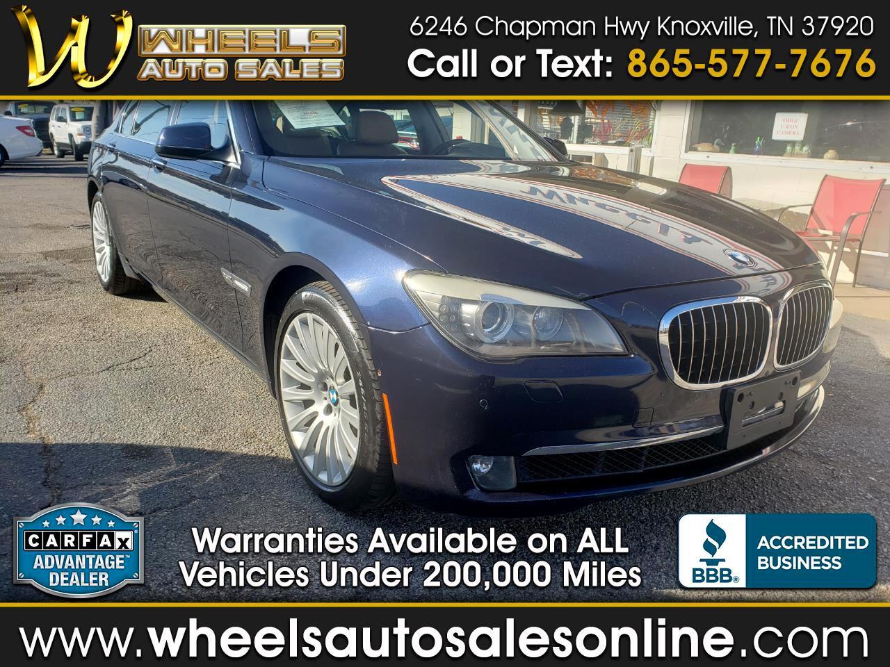 BMW 7 Series 4dr Sdn 750Li xDrive AWD 2010