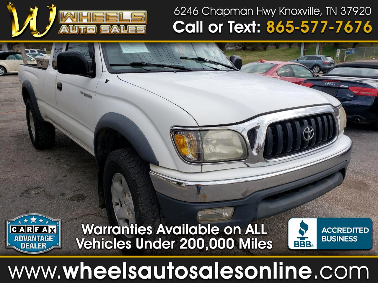 Toyota Tacoma 4WD TRD Off Road Double Cab 6' Bed V6 AT (Natl) 2001