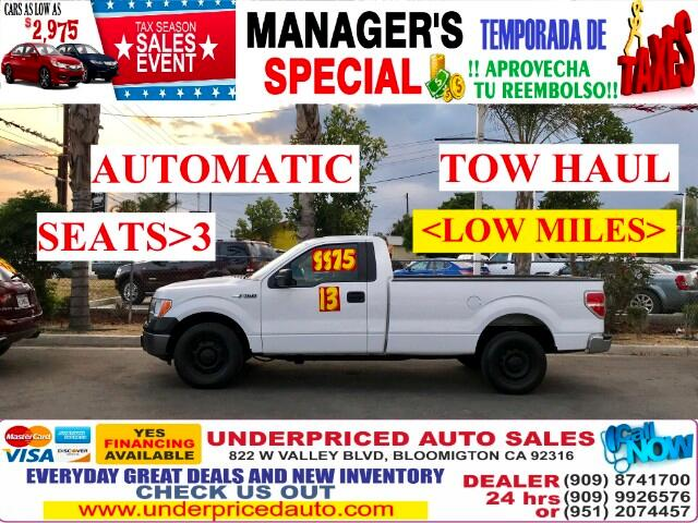 2013 Ford F-150 XL>>>LOW MILES>>>SEATS 3 PASSENGERS>>>A MUST!!!!