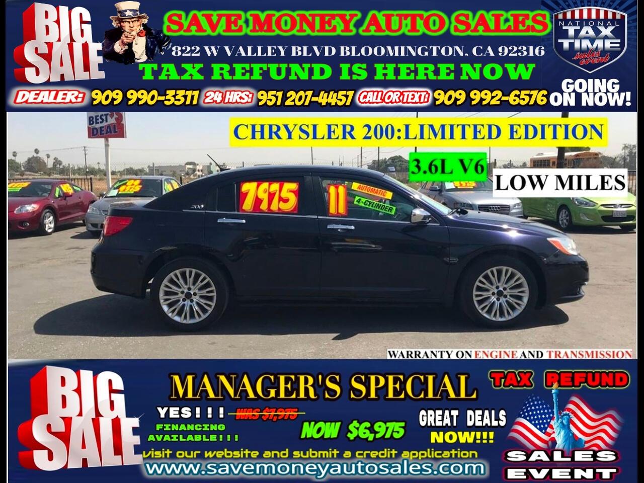 2011 Chrysler 200 LIMITED EDITION>>BLUETOOTH,NAVIGATION!!!!