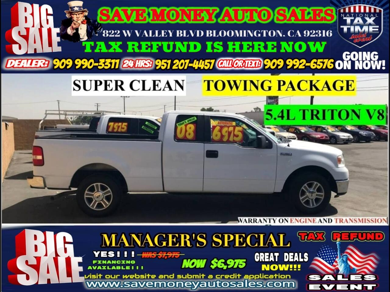 2008 Ford F-150 XLT SUPERCAB>SEATS 6,TOWING PACKAGE>>>>