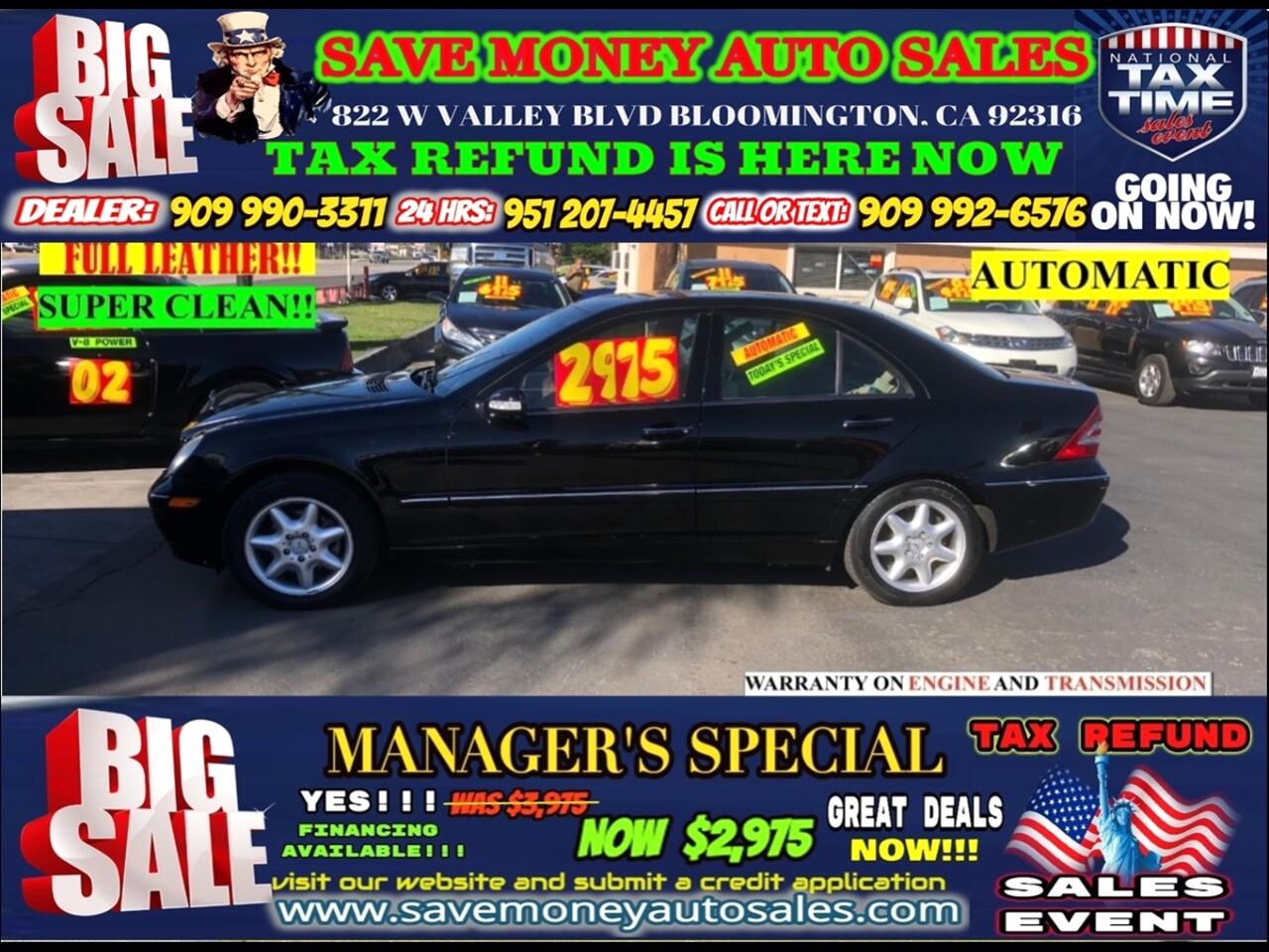 2002 Mercedes-Benz C-Class C240 SEDAN>>BLUETOOTH,FULLY LOADED WE MEANT IT!!!!