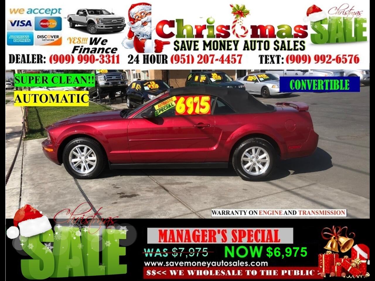 2007 Ford Mustang CONVERTIBLE, EXTRA CLEAN!!!!