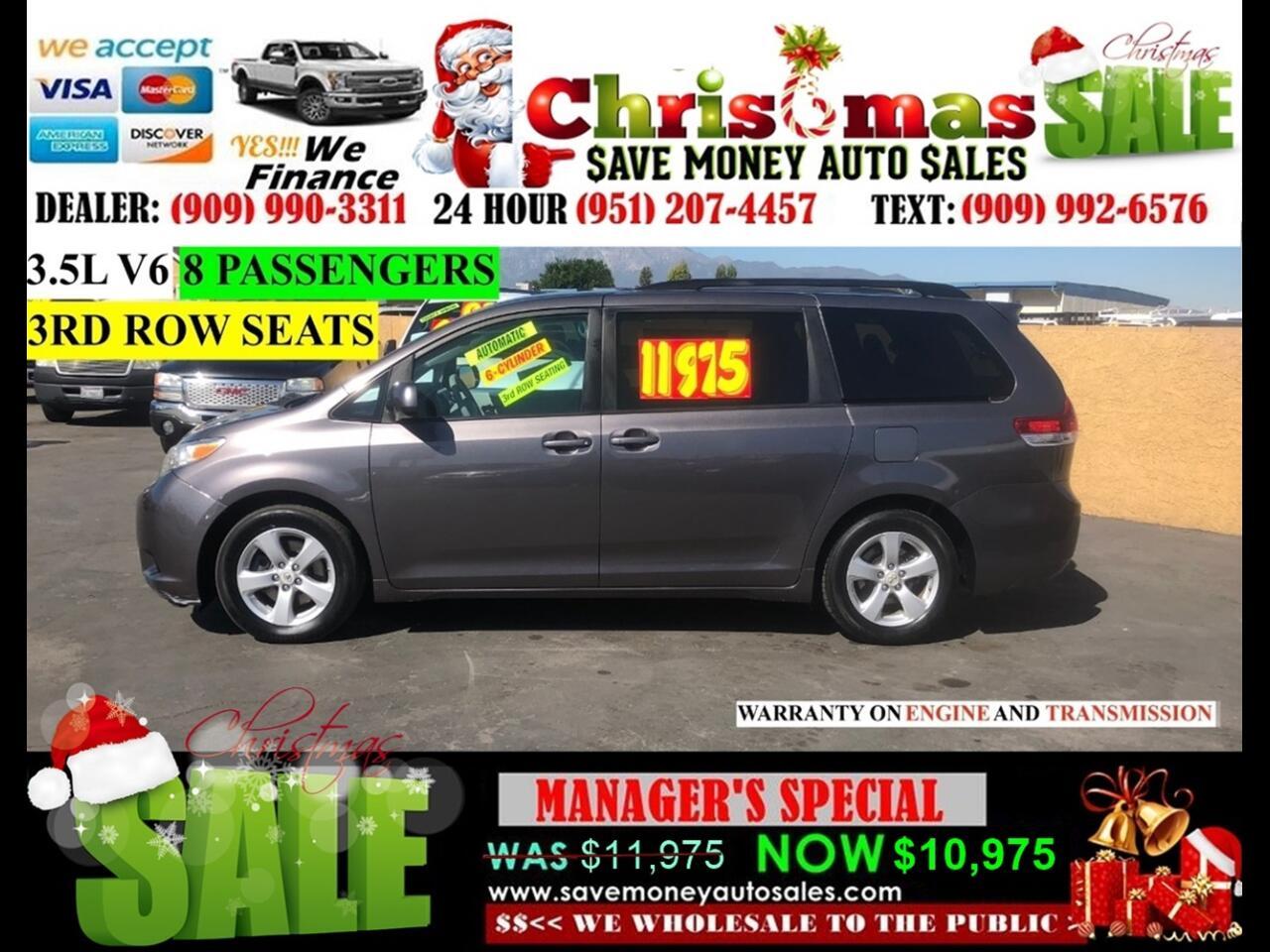 2011 Toyota Sienna LE>8 PASSENGERS, 3RD ROW SEATS!!!