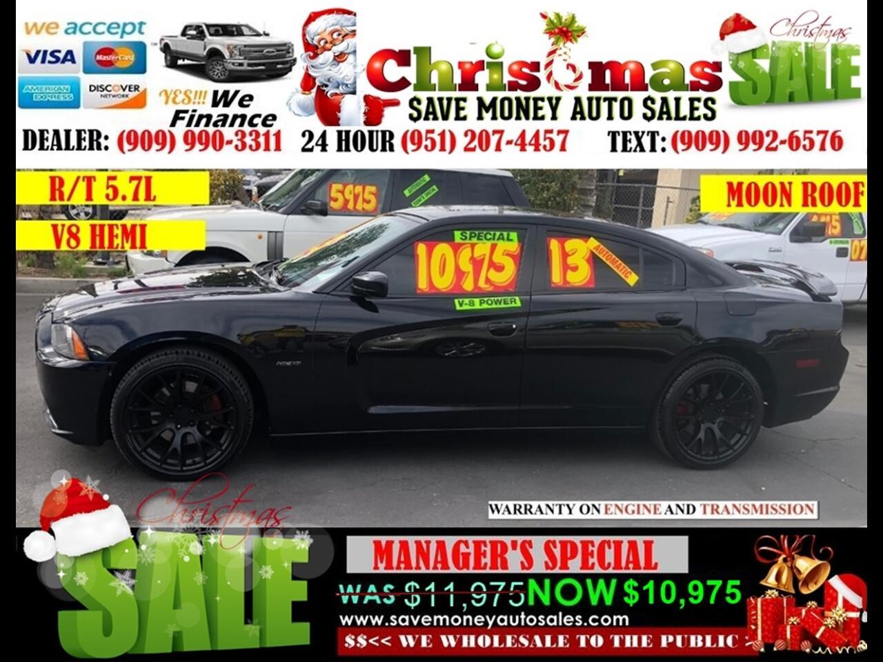2013 Dodge Charger R/T>5.7L V8 HEMI, MOON ROOF