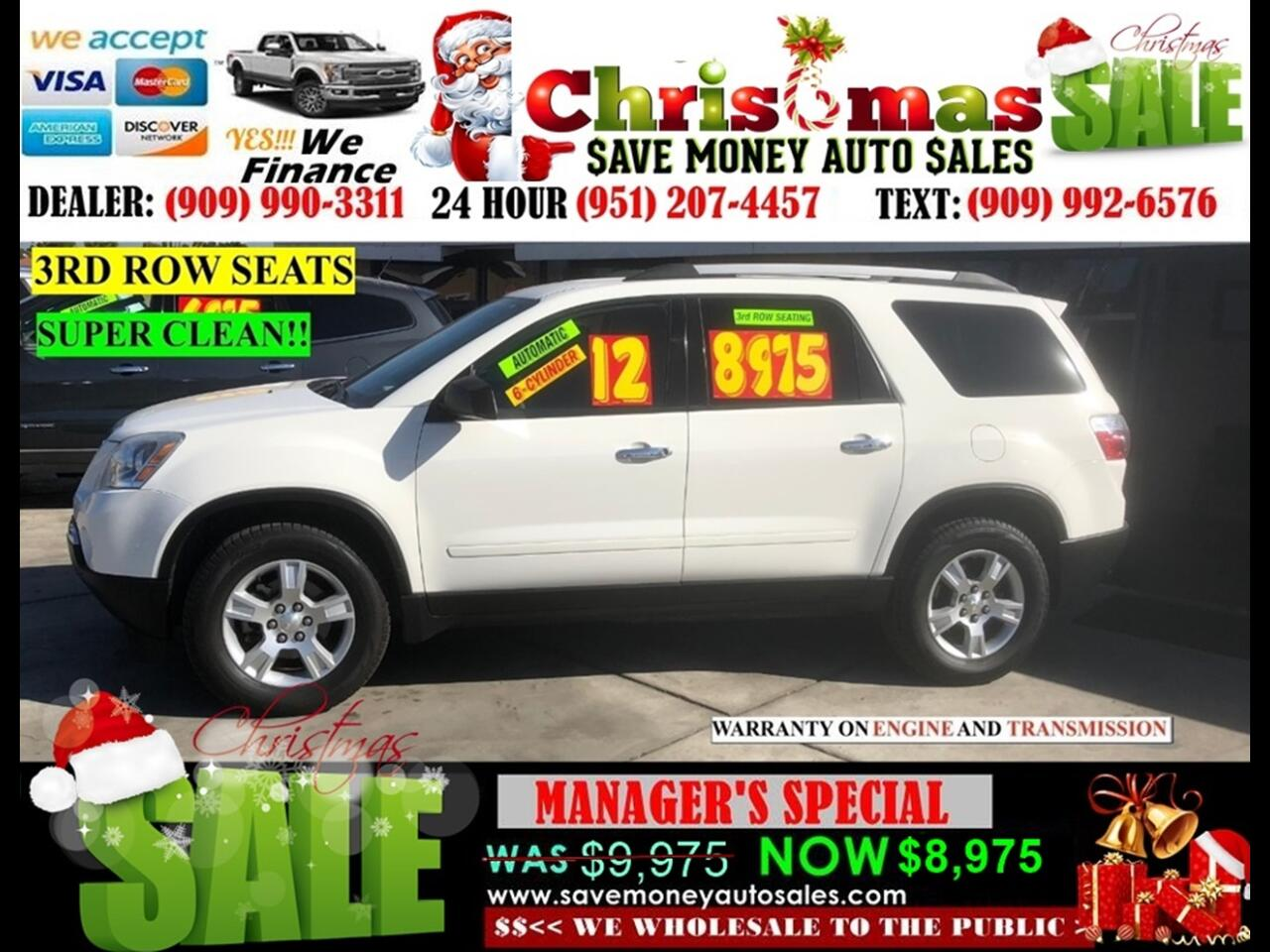 2012 GMC Acadia SLE>6 CYLDS,3RD ROW SEATS!