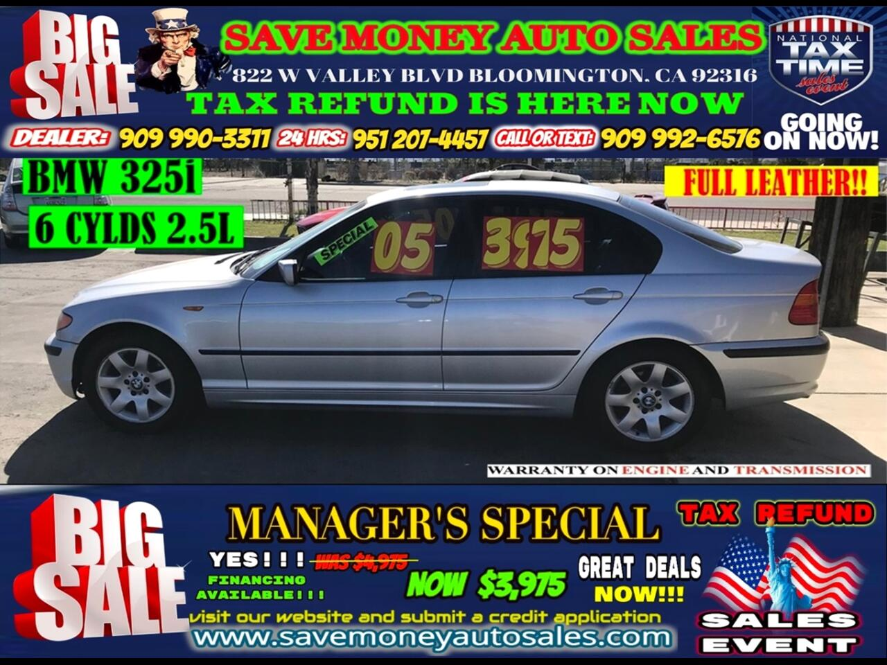 2005 BMW 3-Series 325i>6 CYLDS,MOON ROOF!!!