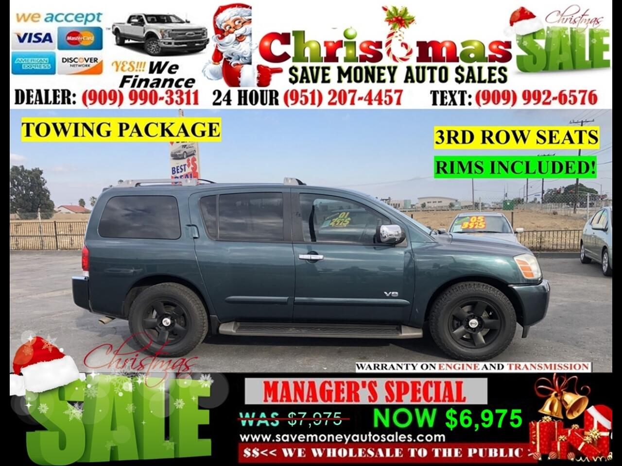 2007 Nissan Armada LE 2WD > 3RD ROW SEAT> VERY CLEAN